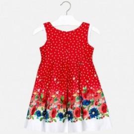 Mayoral 3932-16 Šaty pro dívky červené