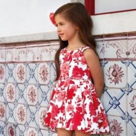 Dívčí šaty s květy Mayoral 3914-95
