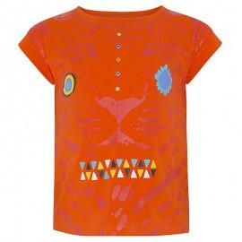 Bavlněná dívčí halenka oranžová Tuc Tuc 49857-10