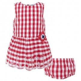 Dívčí šaty v červené barvě s kalhotkami Tuc Tuc 49530-3