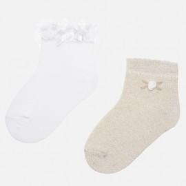 Mayoral 10530-60 Sada ponožek dívky barva písek
