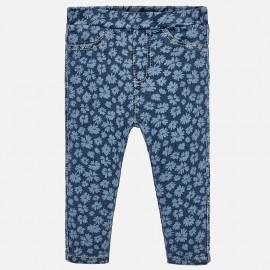 Mayoral 1519-25 Dívčí kalhoty modré květy