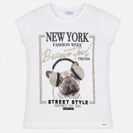 Mayoral 6025-11 Dívčí tričko s barevným krémem