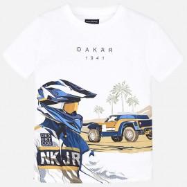 Mayoral 6037-82 Chlapčenské tričko bílé barvy