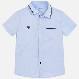 Mayoral 3129-67 Chlapecká košile hladký modrá barva