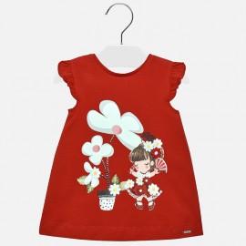 Mayoral 1932-90 Dívčí šaty červené barvy