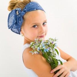 Dívčí trojúhelník bandana pro letní modrý Pupill CECIL
