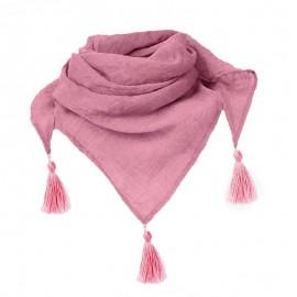 Dívčí trojúhelník bandana pro letní růžový Pupill LALA-R