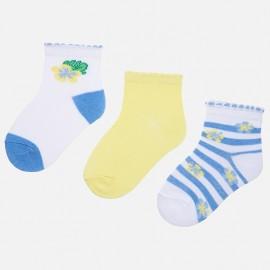 Mayoral 10531-85 Sada ponožek dívky barva citrón
