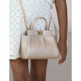 Abel & Lula 5438-55 Dívčí kabelka na zlatém řetízku