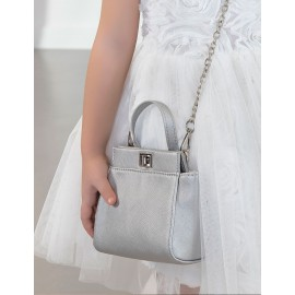 Abel & Lula 5438-55 Dívčí kabelka na stříbrném řetízku