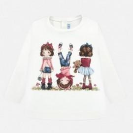 Tričko s dlouhým rukávem pro dívky Mayoral 2010-82