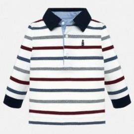 tričko pólo s dlouhými rukávy v proužcích Mayoral 2108-58