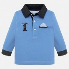 tričko pólo s dlouhými rukávy s chlapeckou aplikací Mayoral 2109-38