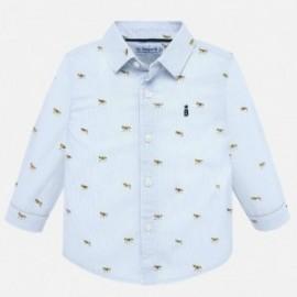 Košile s dlouhým rukávem ve vzorcích chlapce Mayoral 2115-40