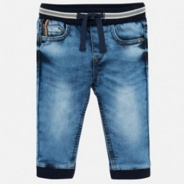 Běžecké kalhoty z měkkých džíny chlapci Mayoral 2537-64