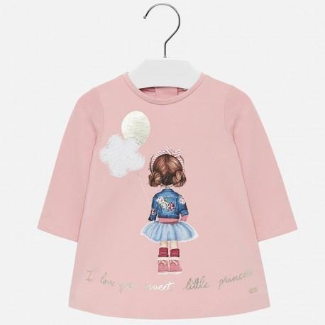 Saty bavlna s potiskem holčičí Mayoral 2920-16