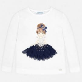 Tričko s dlouhým rukávem pro dívku Mayoral 4008-41