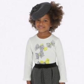 Tričko s dlouhým rukávem s volánkem pro dívku Mayoral 4009-42
