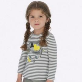 Tričko s dlouhým rukávem s potiskem pro dívky Mayoral 4014-61