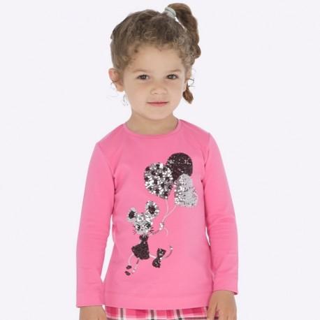 Tričko s dlouhým rukávem pro dívku Mayoral 4016-65