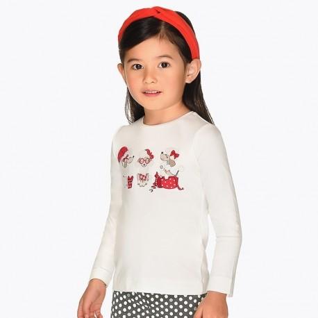 Tričko s dlouhým rukávem pro dívku Mayoral 4016-62