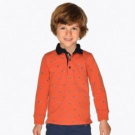 Polo tričko s s dlouhým rukávem s potiskem chlapec Mayoral 4108-95