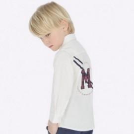 Košile s dlouhým rukávem s aplikacemi chlapec Mayoral 4120-83