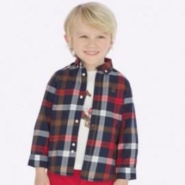 Košile s dlouhým rukávem kostkovaný slim fit chlapec Mayoral 4122-38