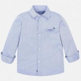 Košile s dlouhým rukávem ve vzorcích elegantní chlapec Mayoral 4125-40