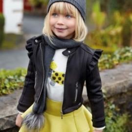 Přechodová bunda semiš lesklý dívčí Mayoral 4409-55