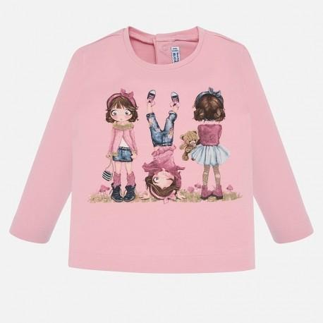 Tričko s dlouhým rukávem pro dívky Mayoral 2010-84