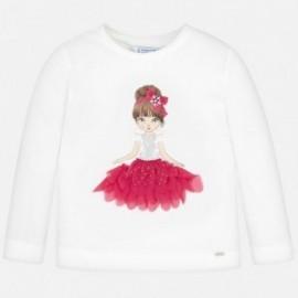Tričko s dlouhým rukávem pro dívku Mayoral 4008-43