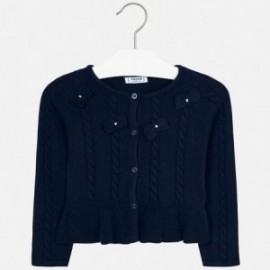 Pletený svetr s luky pro dívku Mayoral 4306-28