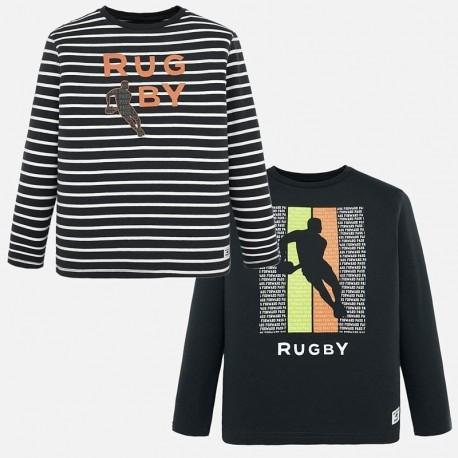 2 košile s dlouhými rukávy, hladké a pruhované pro chlapce Mayoral 7025-97