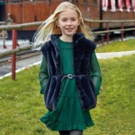 Šaty s dlouhým rukávem pro dívku Mayoral 7937-57