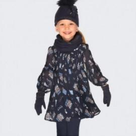 Šaty s dlouhým rukávem s dívčím potiskem Mayoral 4931-19