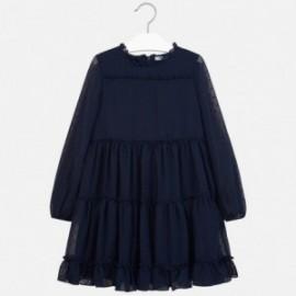 Šaty s dlouhým rukávem pro dívku Mayoral 7937-58
