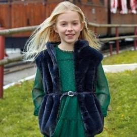 Vesta z kožešiny s páskem holčičí Mayoral 7308-46