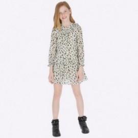 Šaty s dlouhým rukávem s dívčím potiskem Mayoral 7931-76