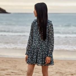 Šaty s dlouhým rukávem s potiskem holčičí Mayoral 7931-77