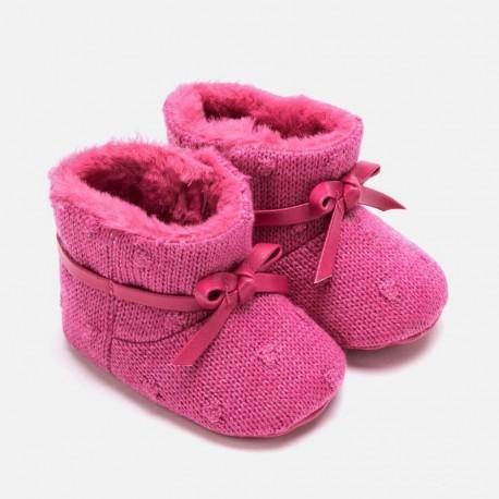 Boty pletený dítě suchý zip pro dívky Mayoral 9218-30