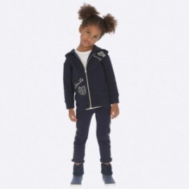 Sportovní tepláková pletená mikina a kalhoty pro dívky Mayoral 4803-44