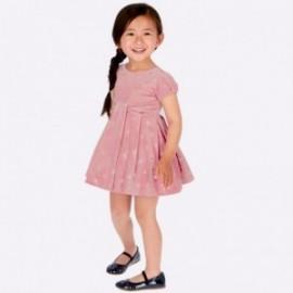 Velvetové šaty v puntíky dívčí Mayoral 4915-93