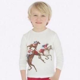 Tričko s dlouhými rukávy každý den chlapci Mayoral 4023-20 Krémově červená
