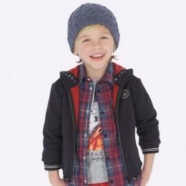 Mikina bavlněné sportovní s kapucí chlapec Mayoral 4456-96 Titanium