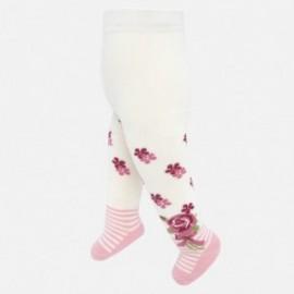 Punčocháče žakárová bavlna pro dívky Mayoral 10630-10 růžový