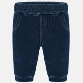 Kalhoty dlouhá elegantní v pásech pro chlapce Mayoral 2521-28 Denim