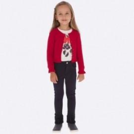 Kalhoty z teplé bavlny pro dívky Mayoral 511-10 Granat