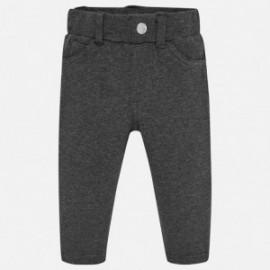 Kalhoty z teplé bavlny pro dívku Mayoral 560-38 olovo